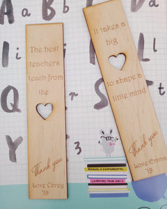 Teachers bookmark