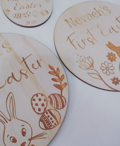 Personalised First Easter Plaque