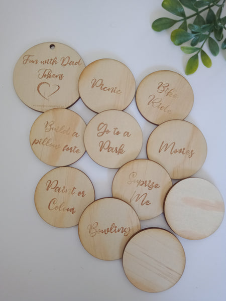 Fun with Dad/ Mum Tokens