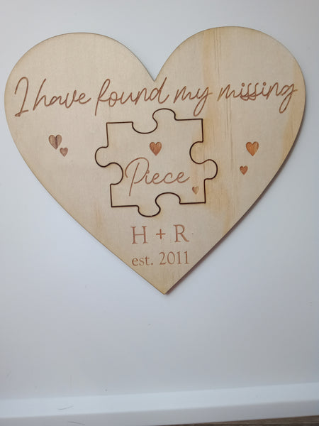 'I found my missing piece' Puzzle Plaque