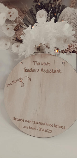 Diy Teachers Plaque
