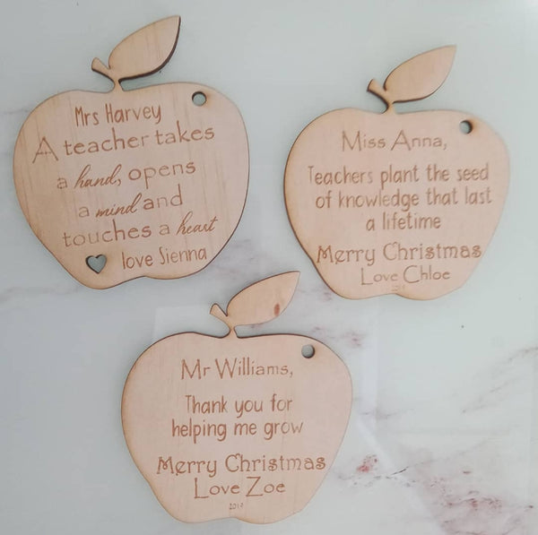Teachers Apple decoration
