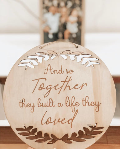 Family Plaque - life they Loved