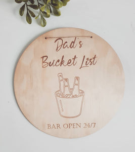 Bar sign - Bucket List