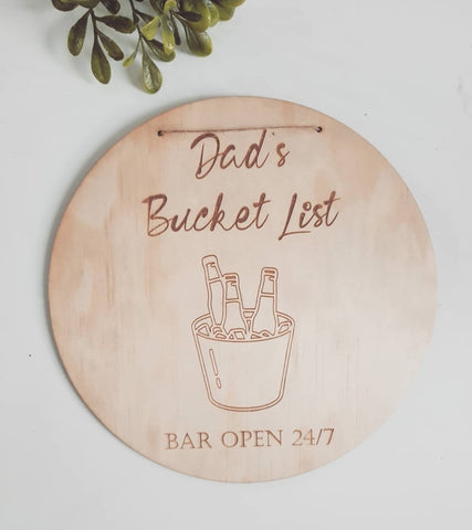 Dad's bar sign - Bucket List