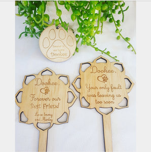 Pet Remembrance planter stick & Keyring