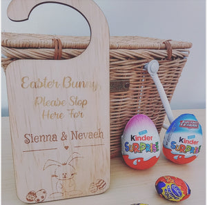 Easter Bunny Stop Here Door Hanger