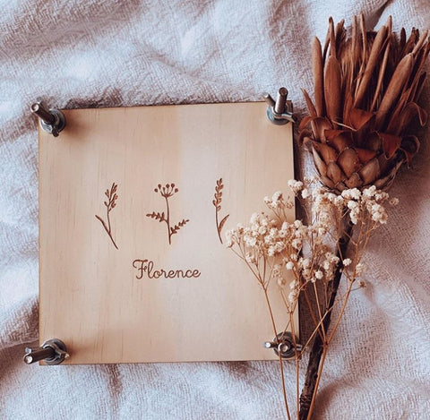 Personalised Flower Press