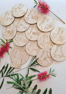 Australian Native Wildflower Milestone Discs