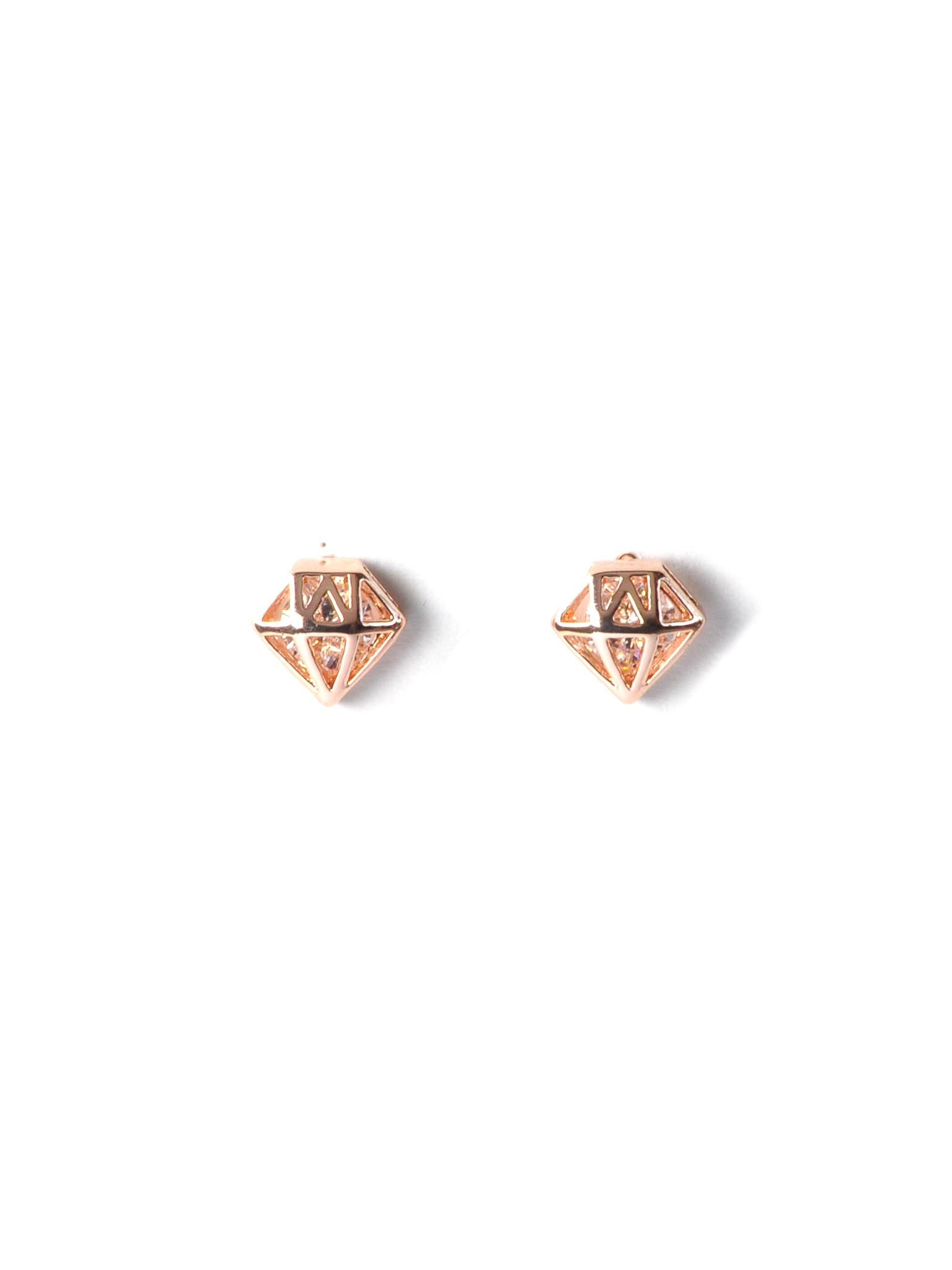 diamond cardon gold black fine earrings products rochic stud brown perspective jewelry