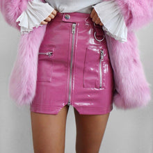 Barbie Pink Faux Leather Mini Skirt