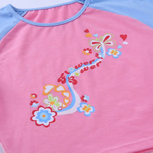E-girl Floral Graphic Patchwork Pink T-shirt