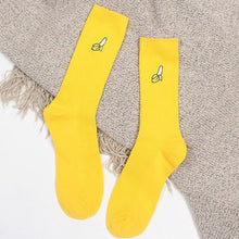 Fruit Embroidered Tube Socks