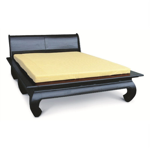 Balinese Solid Teak Timber Queen Size Opium Bed - Chocolate Colour ATF388BS-000-OL-QUEEN-C_1