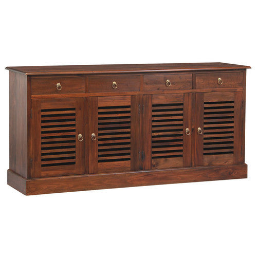 California-Stripe-Door-4-Drawer-Buffet-SB-404-HSR