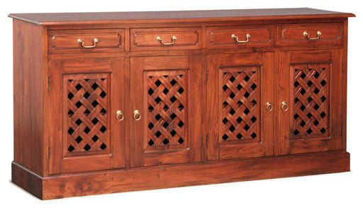 Florida Teak 4-Carved-Door-4-Drawer-Buffet-ATF388SB-404-CV