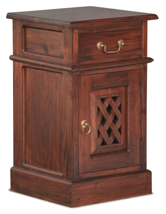 Florida Teak Bedside-Table-Carved-Design-ATF388BS-101-CV