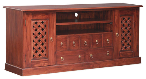 Florida Teak TV Console-190cm-Entertainment-Unit-in-Mahogany-or-Chocolate-ATF388SB-207-CV