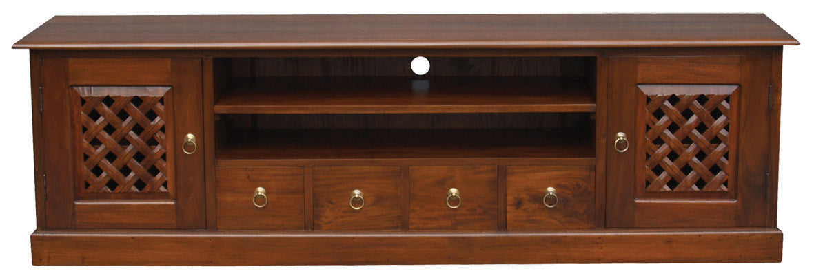 Florida Teak TV Console -200cm-Entertainment-Unit-in-Mahogany-or-Chocolate-ATF388SB-204-CV