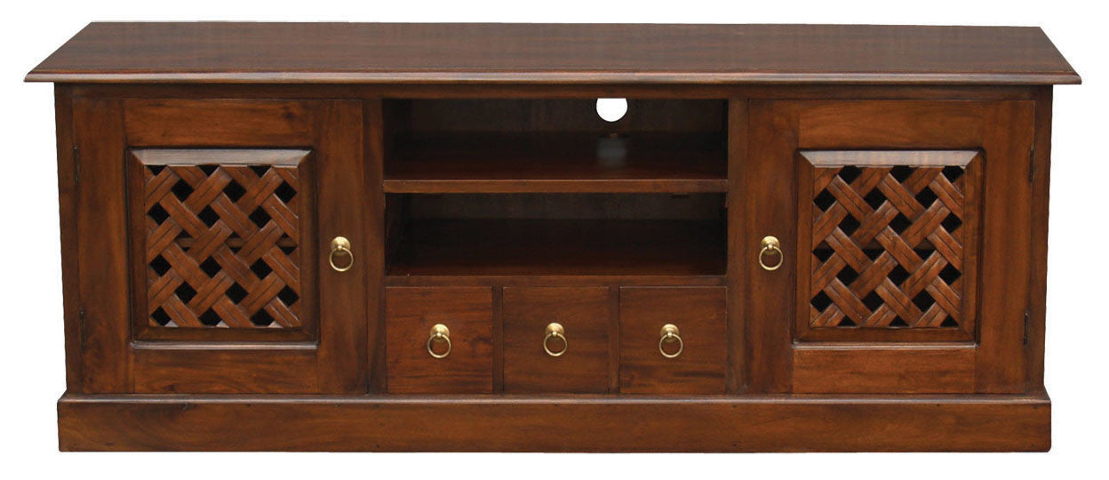 Florida Teak TV Console Carved-160cm-Entertainment-Unit-in-Mahogany-or-Chocolate-ATF388SB-203-CV