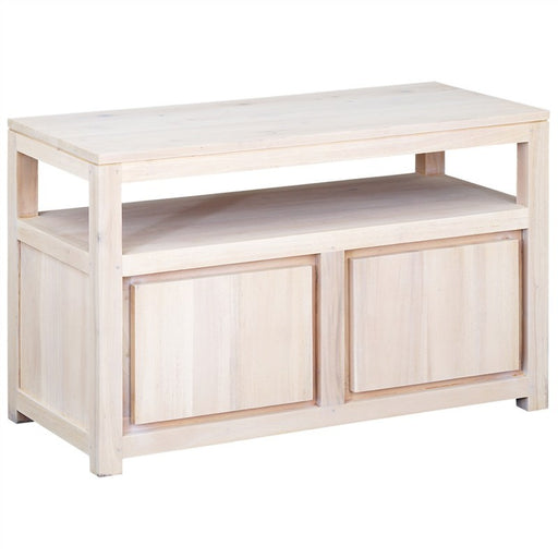 Los Angeles Solid Teak Timber 2 Door TV Unit, 97cm, White Wash ATF388TV-200-TA-WS_1
