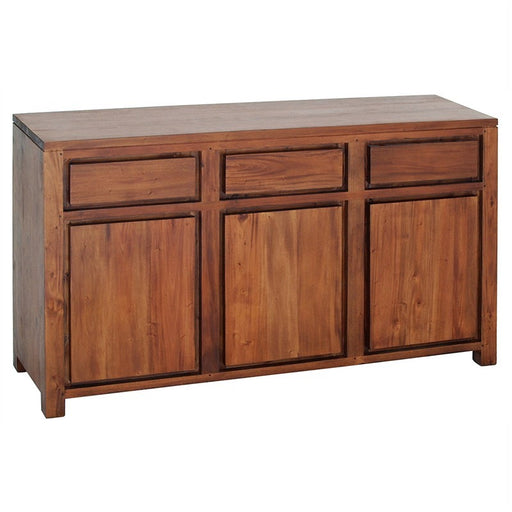 Los Angeles Solid Teak Timber 3 Door 3 Drawer 156cm Buffet Table - Light Pecan ATF388SB-303-TA-LP_1