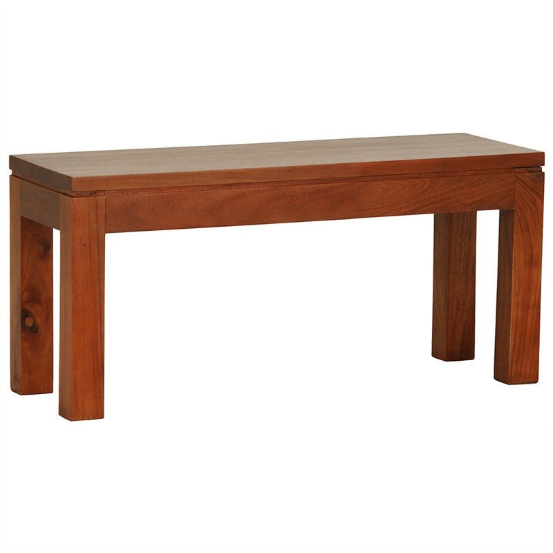 Los Angeles Solid Teak Timber 90cm Dining Bench - Light Pecan ATF388BE-90-35-TA-LP_1