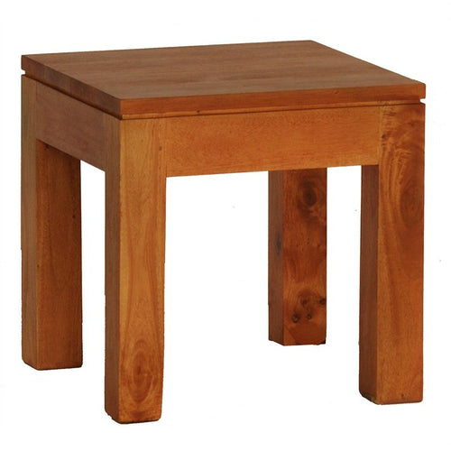 Los Angeles Solid Teak Timber Lamp Table - Light Pecan