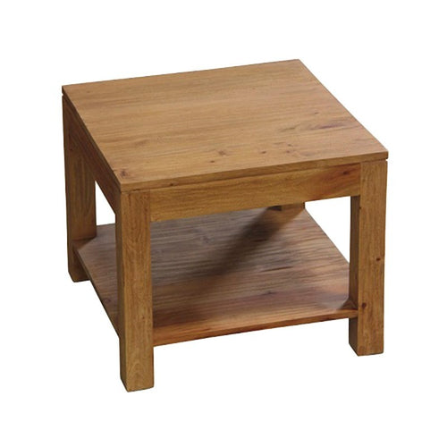 Los Angeles Solid Teak Timber Side Table, Teak ATF388LT-60-60-TA-NT_1