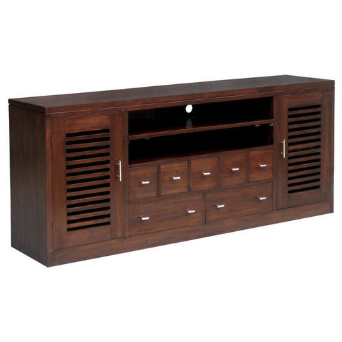 Netherlands-Holland-185cm-Teak-TV Console-Entertainment-Unit-in-Mahogany-or-Chocolate-SB-207-HSR-FL