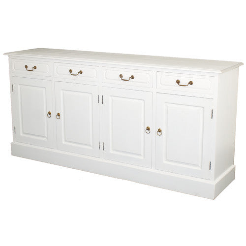 White+Marseille-French+4+Door+4+Drawer+Buffet