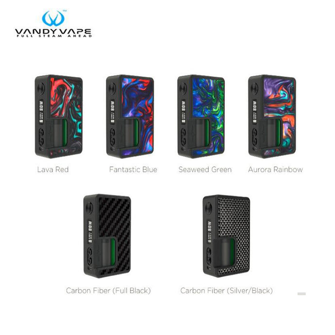 Original Vandy Vape Pulse BF 80W Box Mod Vape with Carbon Fiber Resin Panel Support 18650/20700 BF RTA Tank Electronic Cigarette