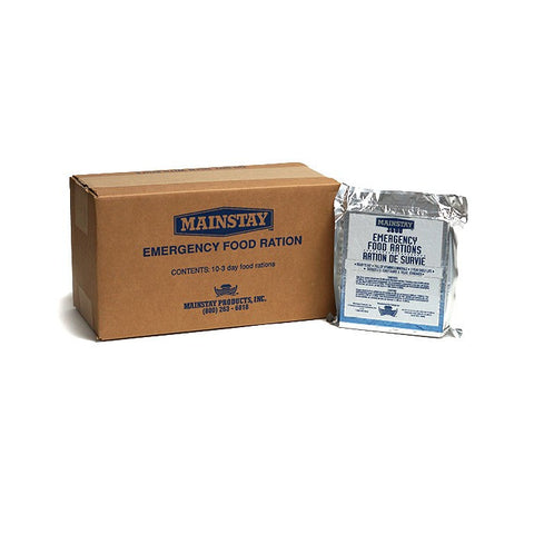 Mainstay Emergency Box of 10 Food Ration Packets