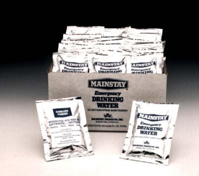 Mainstay Emergency Drinking Water Packets Box of 60