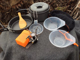 Outdoor Survival Cooking Set with Mini Burner