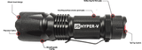 400LM J5 Hyper-V Tactical Flashlight
