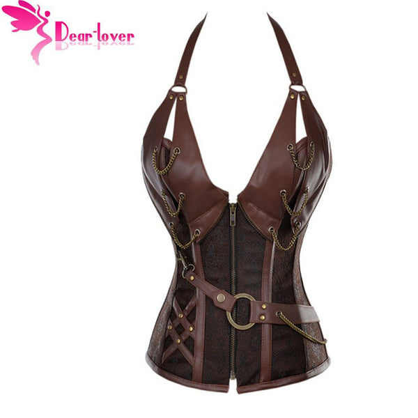 Steampunk Corset Top With G-string sexy lingerie set