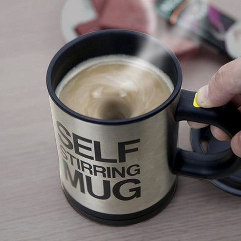 Self Stirring Coffee Cup Mugs Double Insulated Coffee Mug w Cover  Specialty