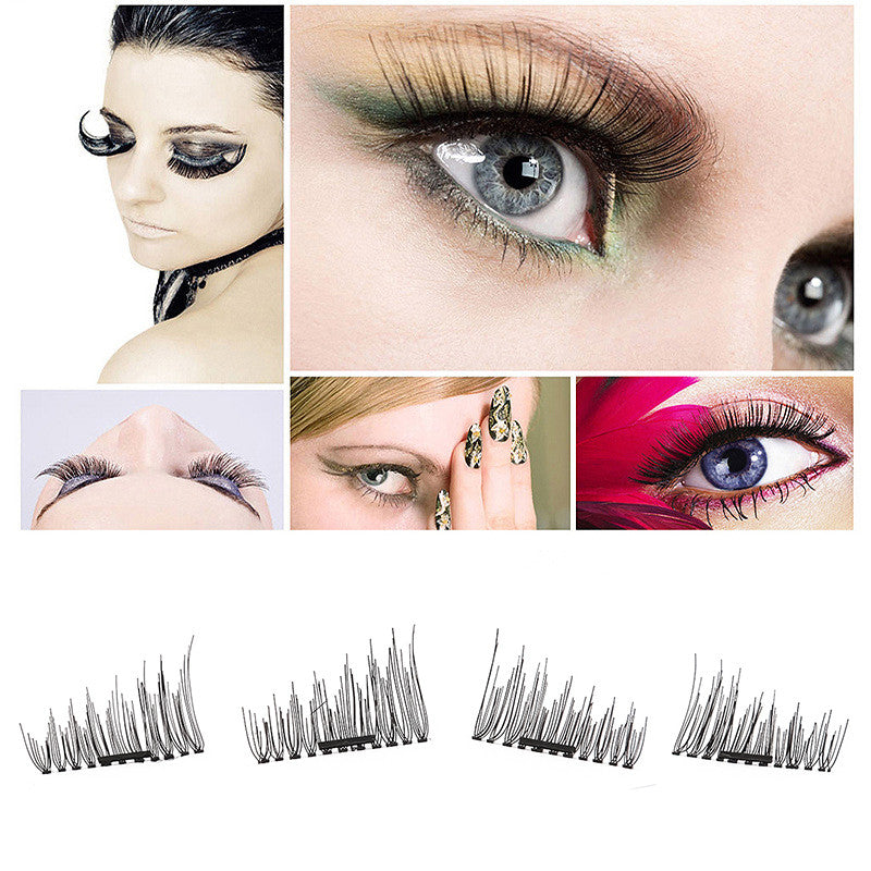 3D Magnetic False Fake Eyelashes Beauty