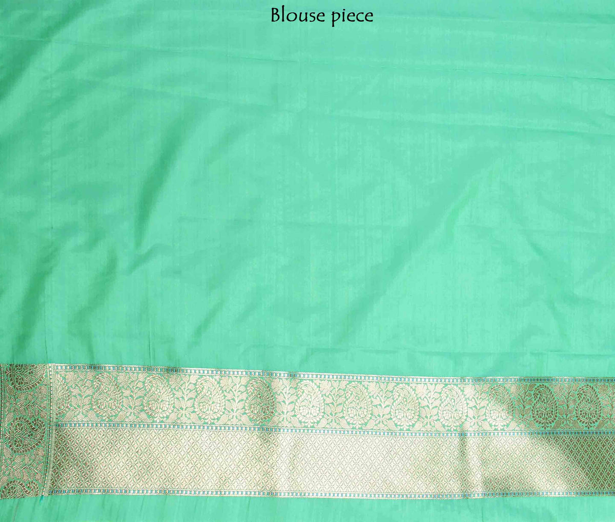 Green Banarasi Saree with drop motifs (4) blouse