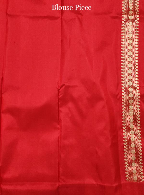 Grey Katan silk Banarasi saree with sona rupa boota (5) blouse