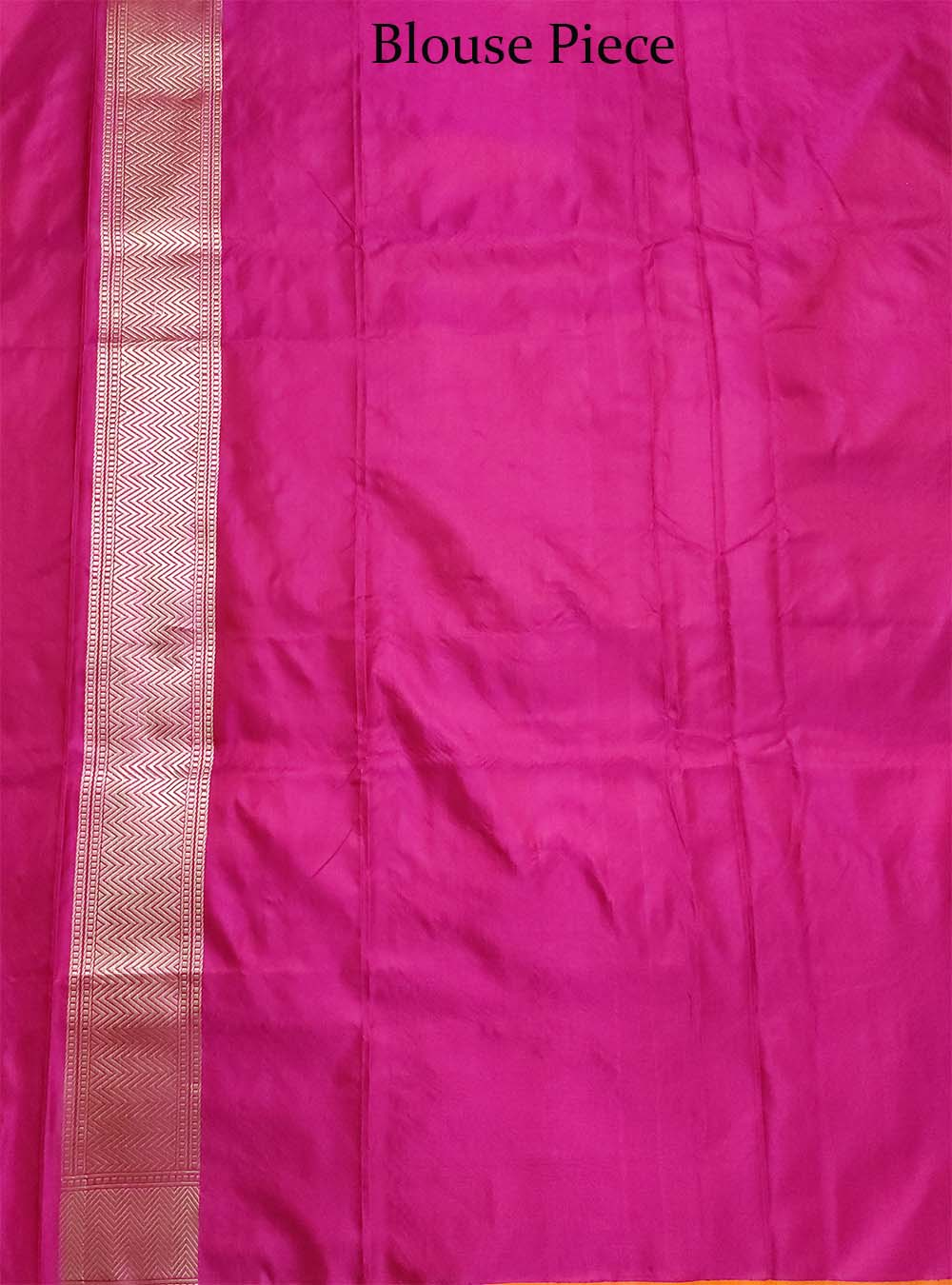 Magenta Katan silk handloom Banarasi saree with bird booti tanchoi jaal (3) Close up