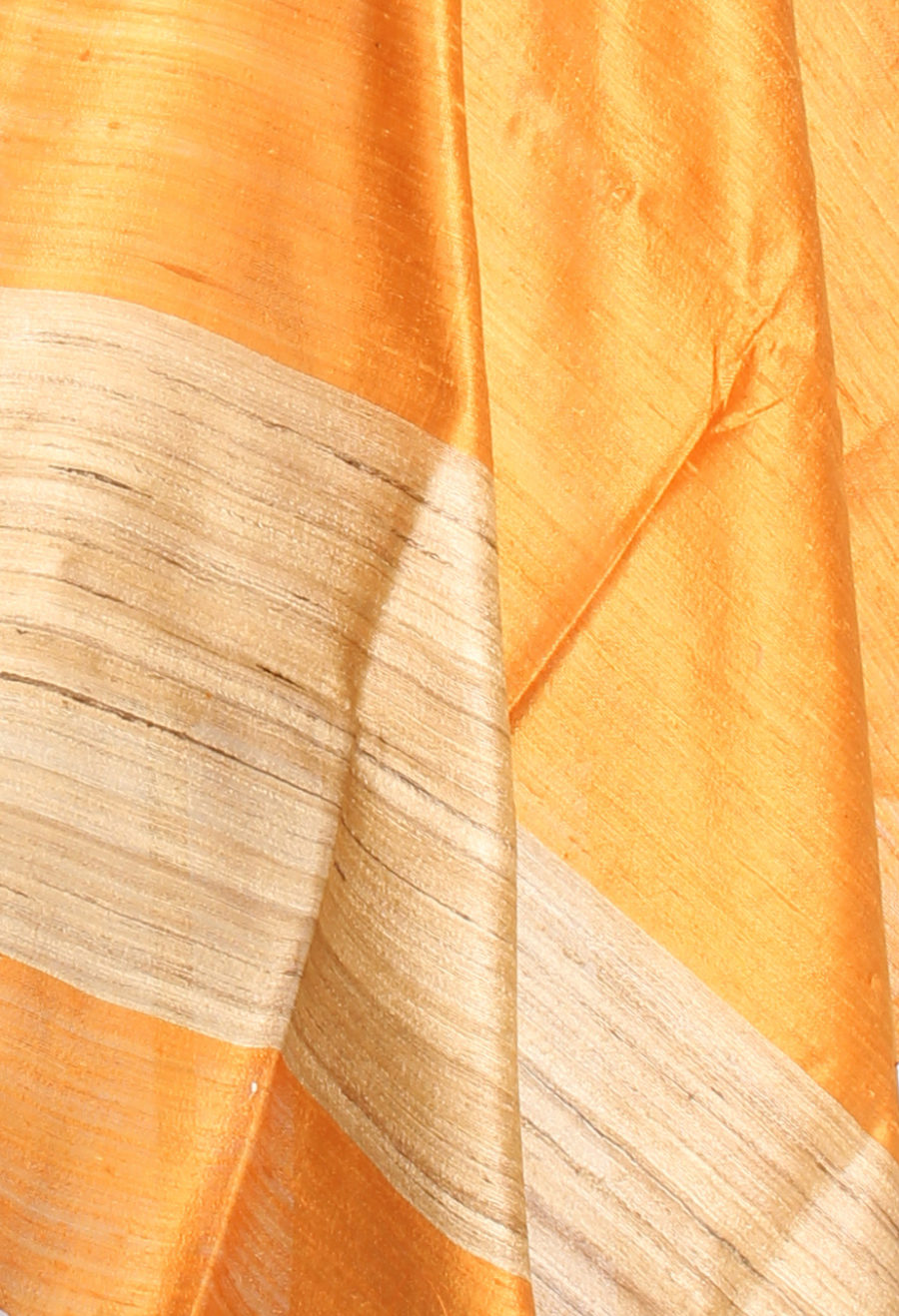 Mustard Tussar Dupion Raw silk Solid woven dupatta (2) Close up