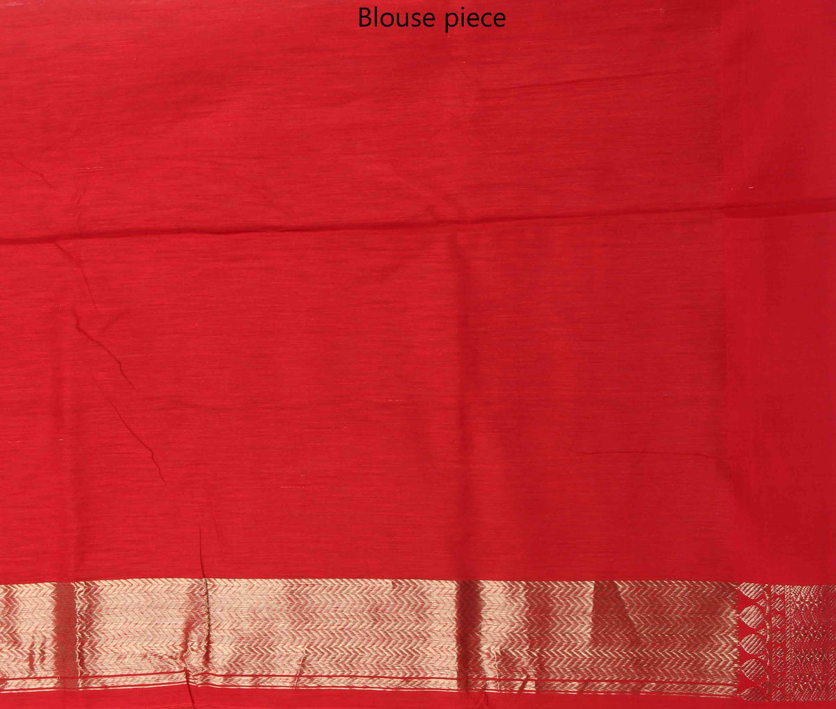 Orange Tussar Silk Handwoven Banarasi saree with polka dot motifs (4) blouse