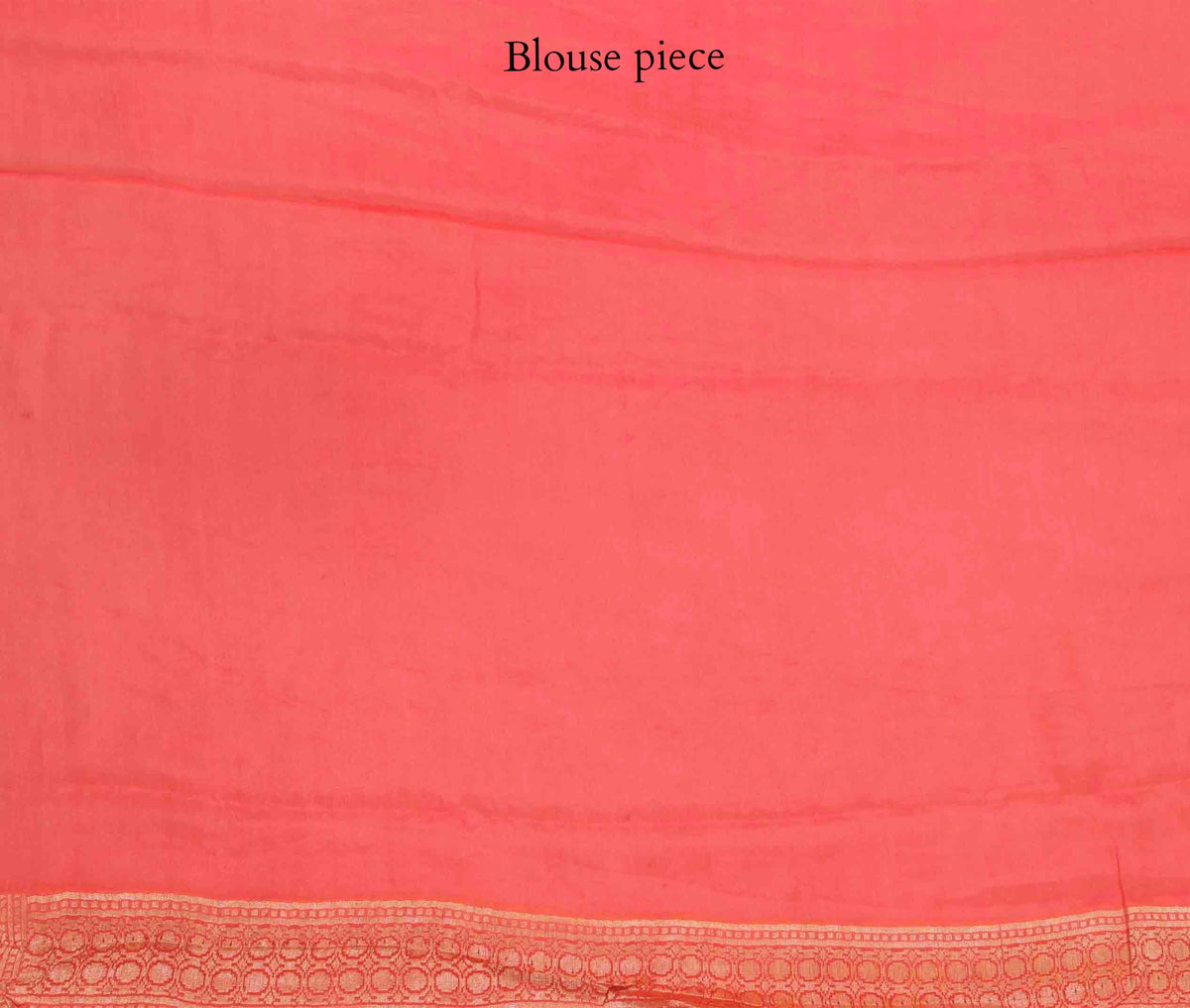 Peach Khaddi Georgette Banarasi Saree with floral jaal (4) blouse