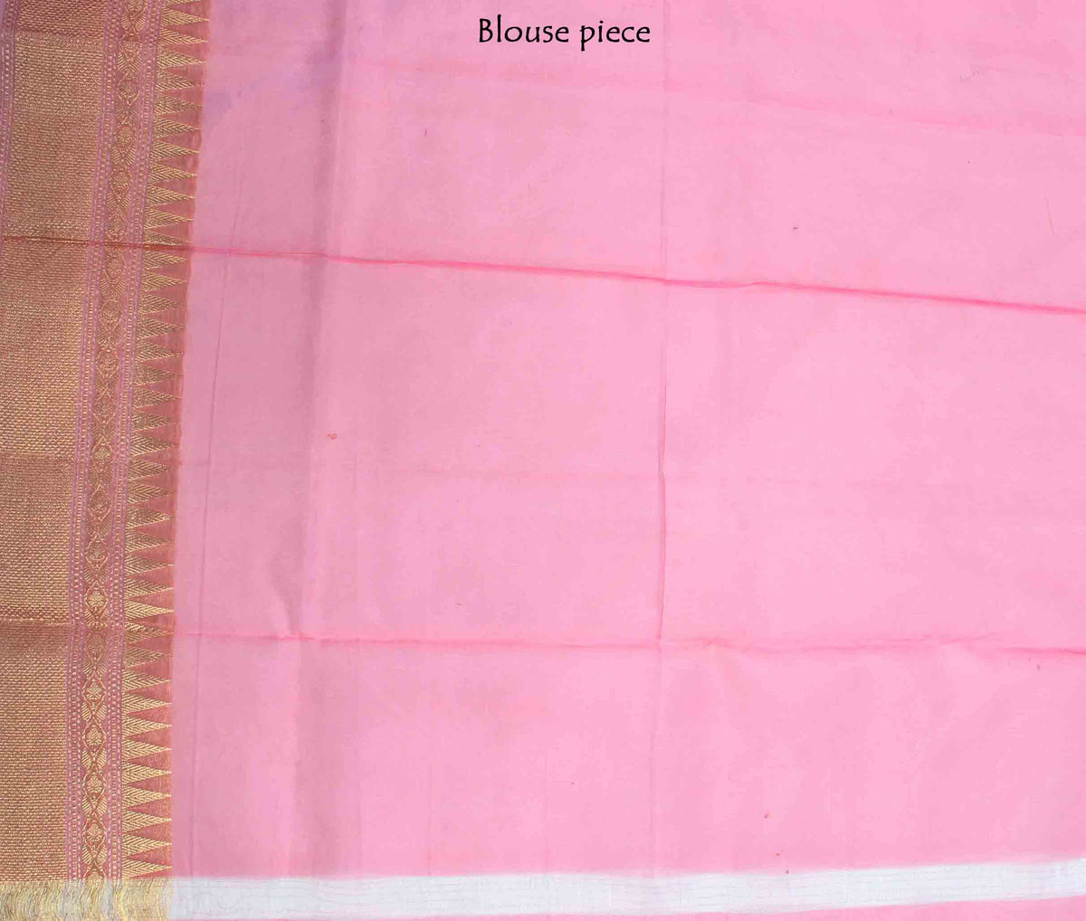 Peach Kora Banarasi saree with resham floral jaal (4) blouse