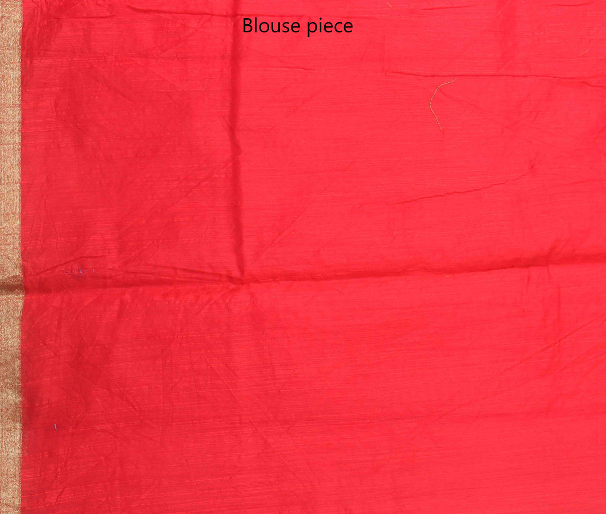 Red Cotton art silk Banarasi saree with meenedar flower boota (4) blouse