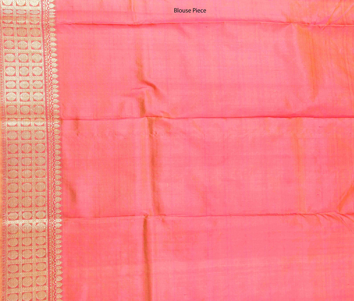 Salmon Katan Silk Handwoven Banarasi saree with mini booti (4) Blouse