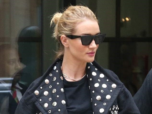Rosie Huntington Whiteley in Isabel Marant jacket