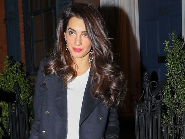 Amal Clooney seen wearing R13 and Veronica Beard fashion